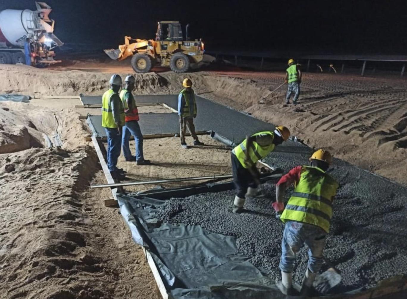 Plain Concrete Pouring